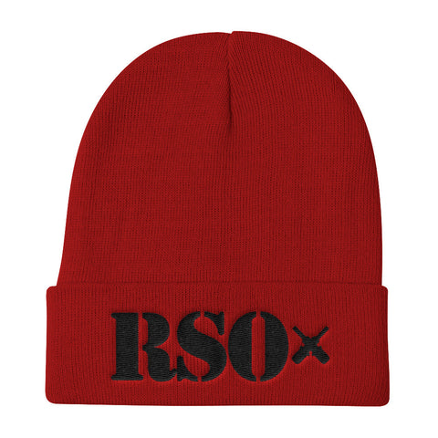 RSO Knit Beanie (Black Embroidery)