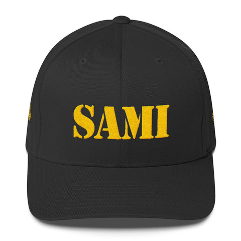SAMI (0812) Range Day Structured Twill Cap (Yellow Embroidery)