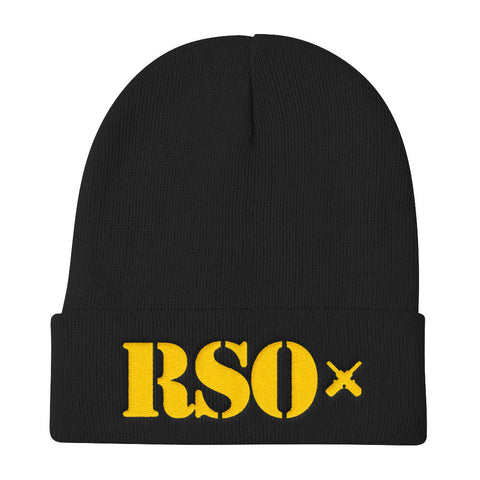 RSO Knit Beanie (Yellow Embroidery)