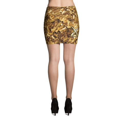 Gunner's Mate Brass Pattern Mini Skirt
