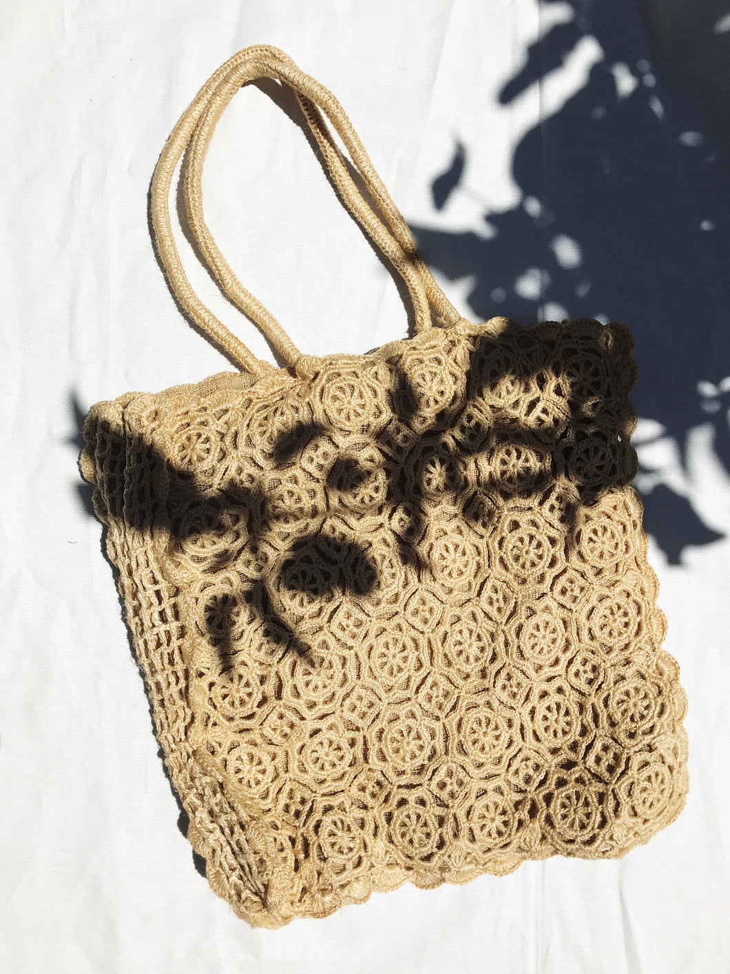 Crocheted Floral Tote