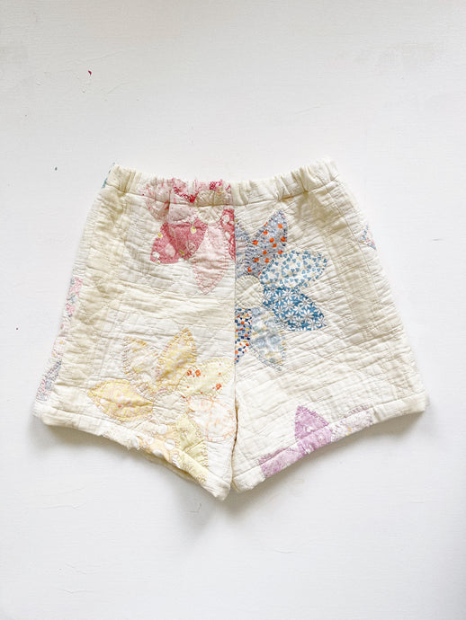 "Antique Quilt Shorts 06 | 26""-28"""