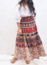 Indian Block Print Wrap Skirt