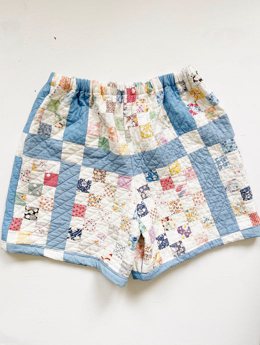 "Antique Quilt Shorts 04 | 30""-36"""