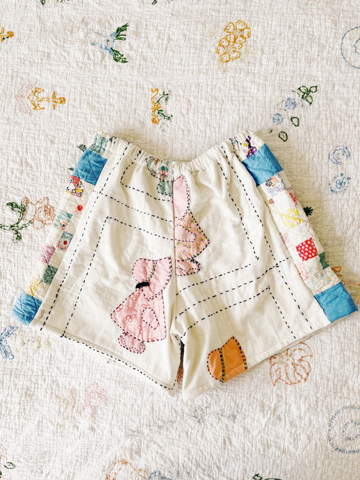 "Antique Quilt Shorts 07 | 26""-30"""
