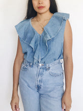 Ruffle Denim Top