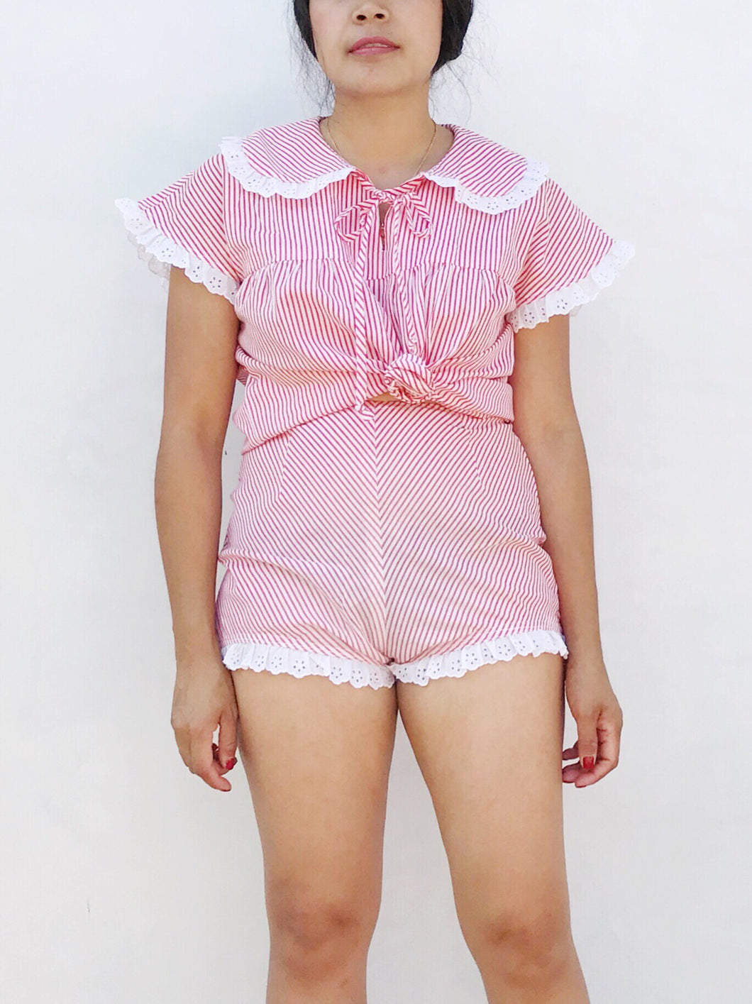 "Vintage 2-piece Play Suit - up to 26"" waist"