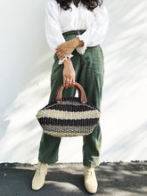 Woven Striped Basket