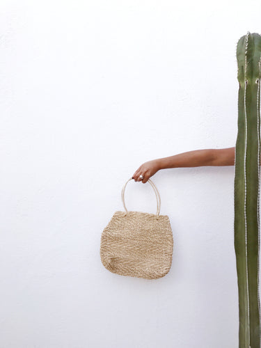 Jute Bag with Vinyl Wrapped Handles