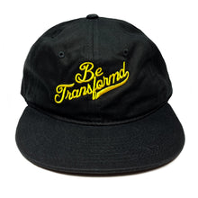 "Black / Yellow ""Be Transformd"" Script Unconstructed Snapback"