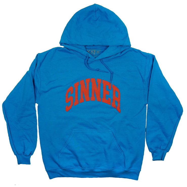 Sinner | Forgiven Varsity - Blue /Red Hoodie *puff print*