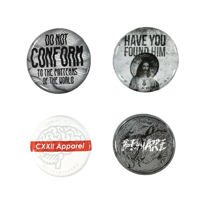 CXXII Apparel Button Series 1