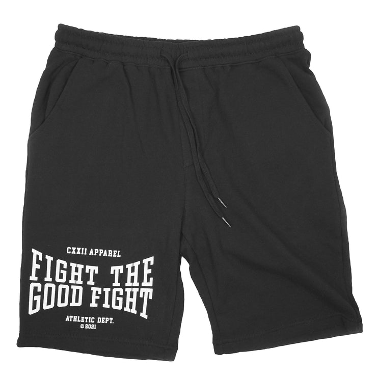 Fight the Good Fight Black Shorts