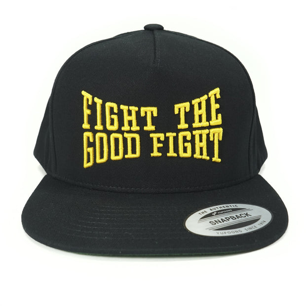 Fight the Good Fight Blk/Gold 5 Panel SnapBack