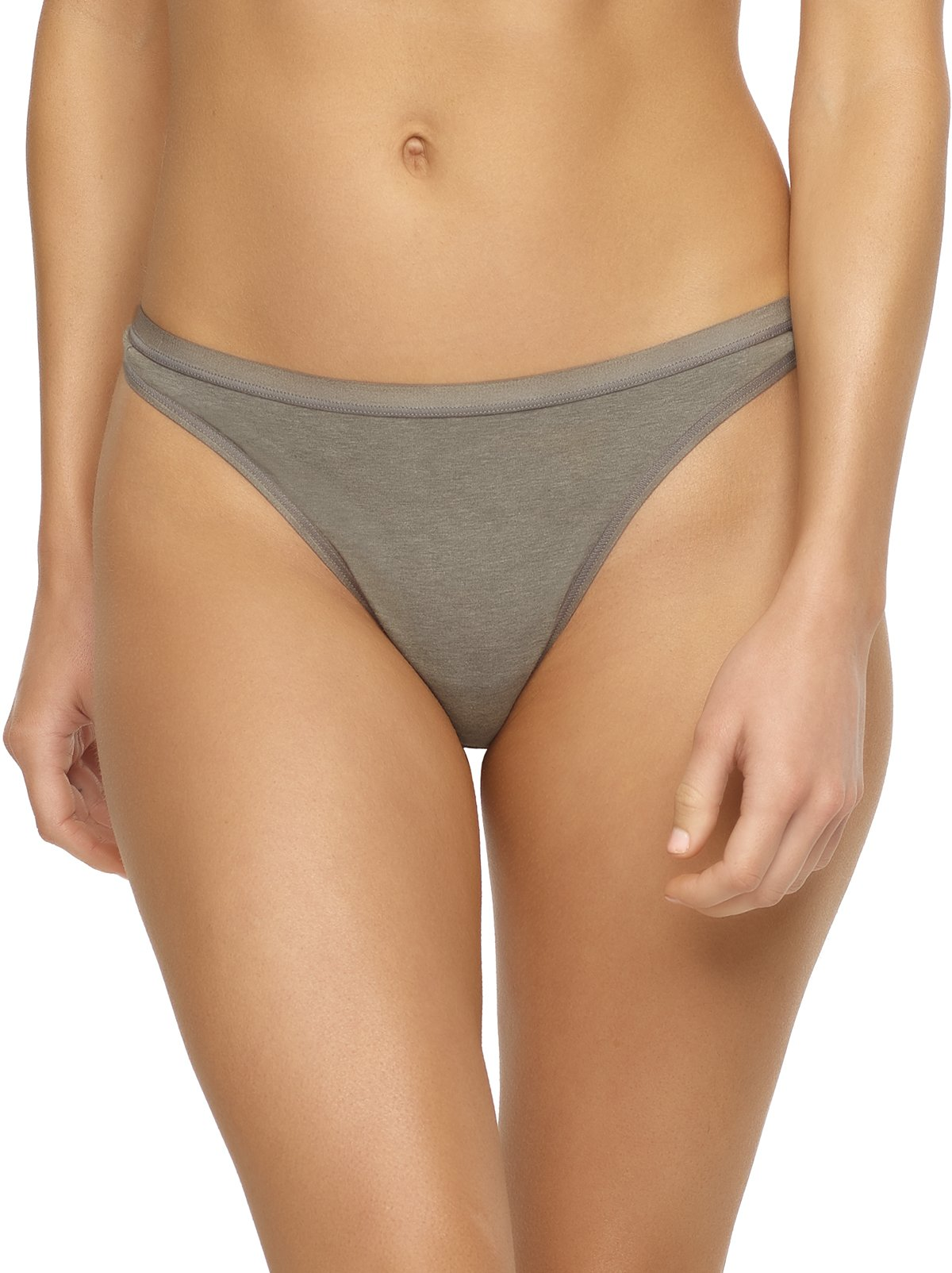 organic cotton thong color-wheat slate