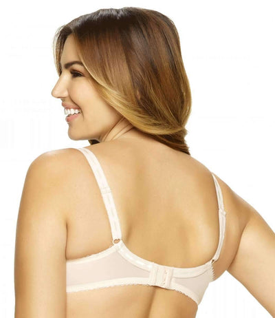 Paramour by Felina Sweet Revenge Unlined Bra back shot color-bare-ivr dot