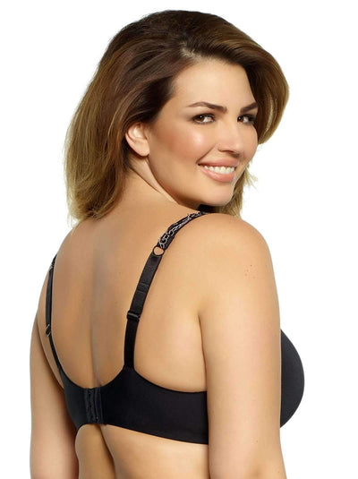 Paramour by Felina Lissa Seamless T-Shirt Bra back shot color-black
