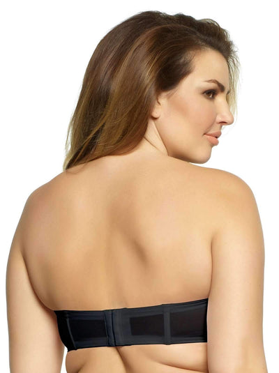 Paramour by Felina Marvelous Strapless Contour Bra back shot color-black