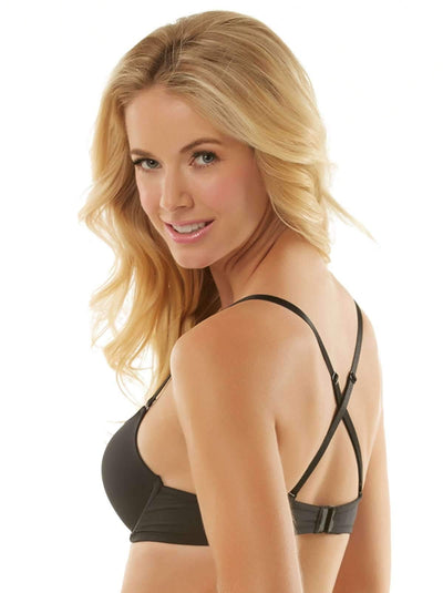 Jezebel Embrace Plunge Push Up Bra side shot color-black