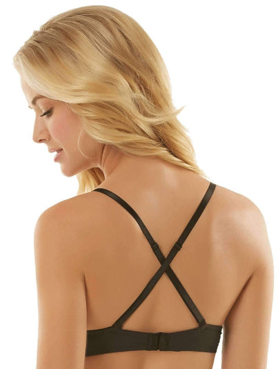 Jezebel Embrace Plunge Push Up Bra back shot color-black