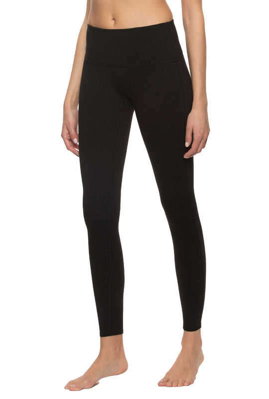 High Waisted Legging w/Hidden Pockets - color black