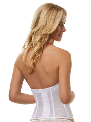 Jezebel Caress Bustier back shot color-white