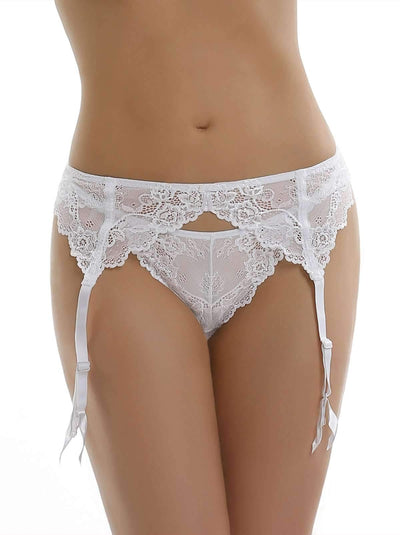 Jezebel Caress Too Garterbelt color-white