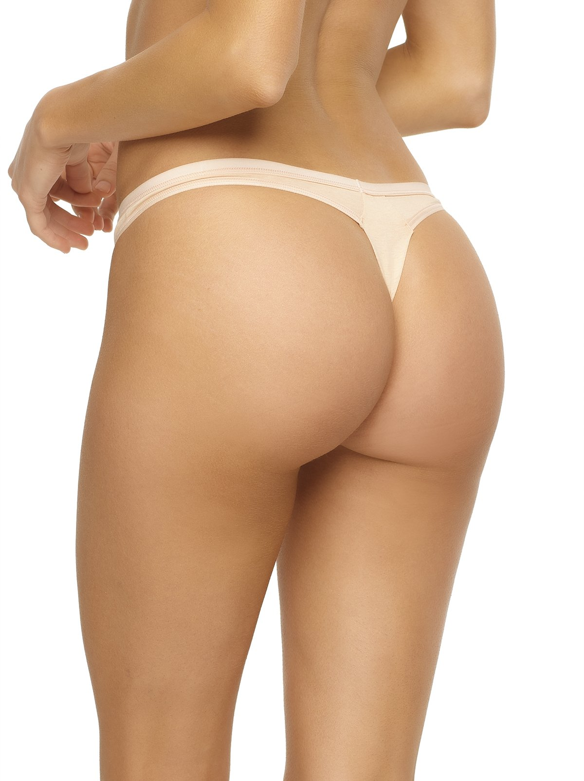 organic thong panty color-wheat