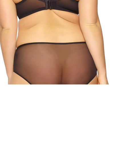 Paramour by Felina Dahlia High-Waist Brief back shot color-black