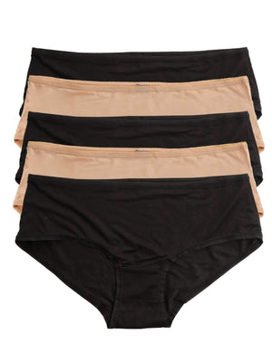 Felina Sublime Boyleg 5-Pack color-black fawn combo