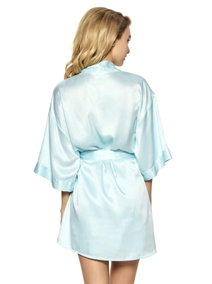 Muse Satin Kimono color-bridal blue