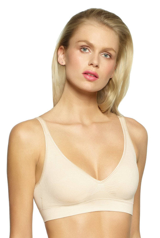 Seamless Wire Free Bra color-warm nude