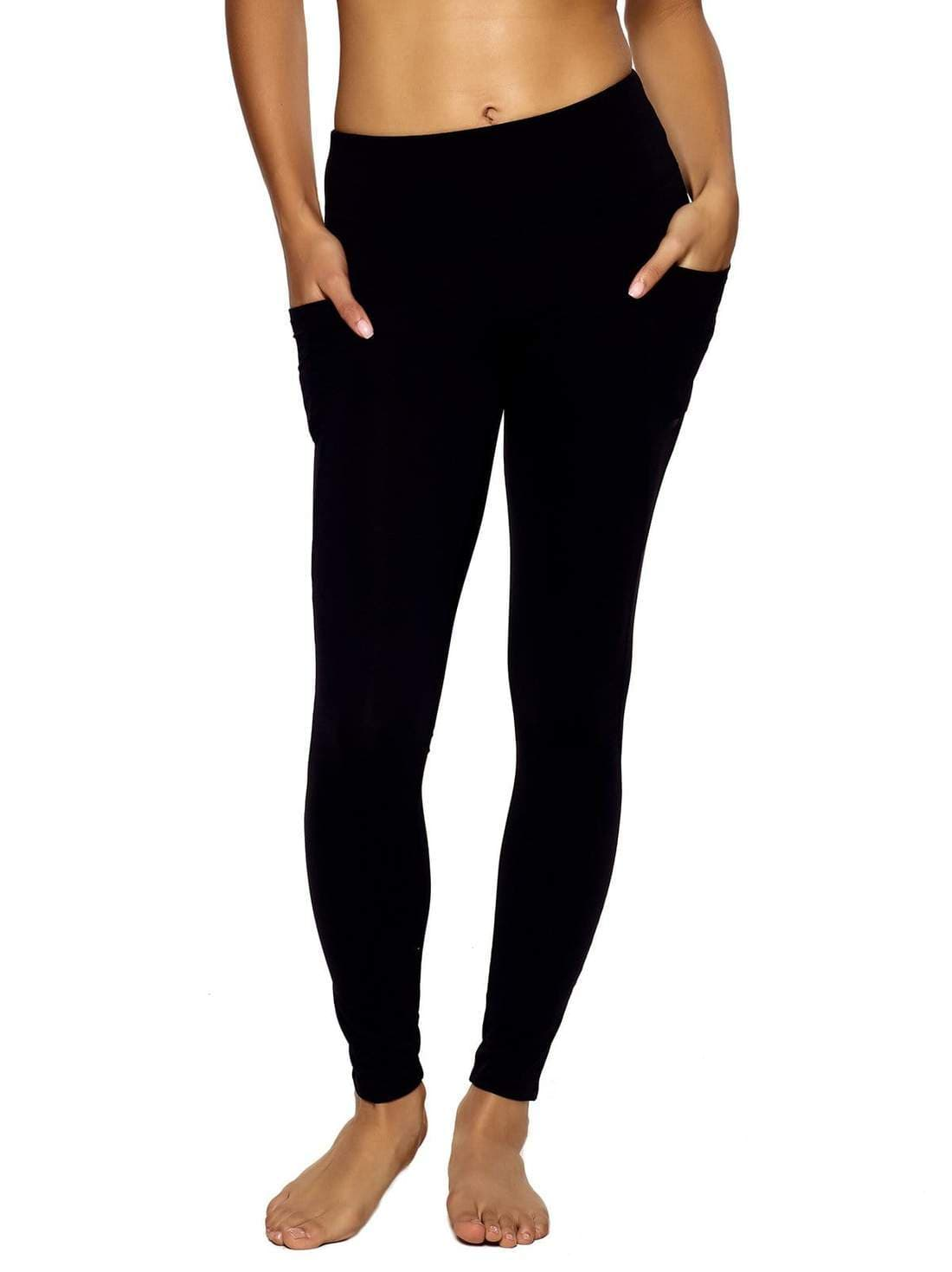 pocket legging color-black
