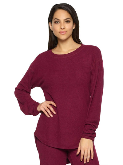 Felina Victoria Long Sleeve Crew Neck color-beet red