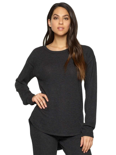 Felina Victoria Long Sleeve Crew Neck color-charcoal