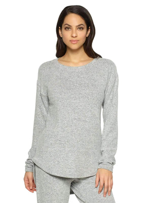 Felina Victoria Long Sleeve Crew Neck color-heather gray