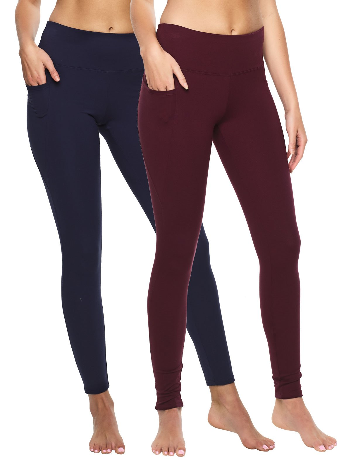 pocket legging color-wine peacoat