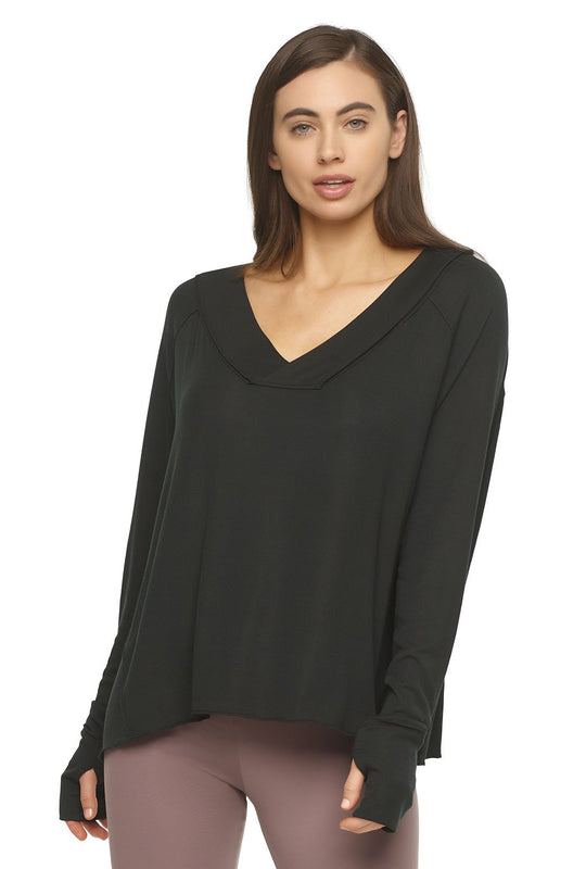 long sleeve shirt color-black