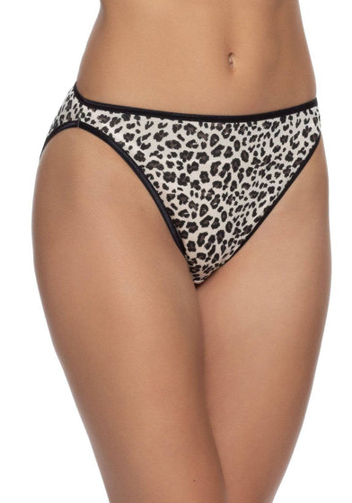 Felina So Smooth Modal Hi Cut Panty color-cheetah