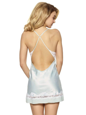 Jezebel by Felina Muse Chemise color-bridal blue