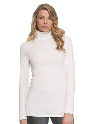 long sleeve turtle neck color-white