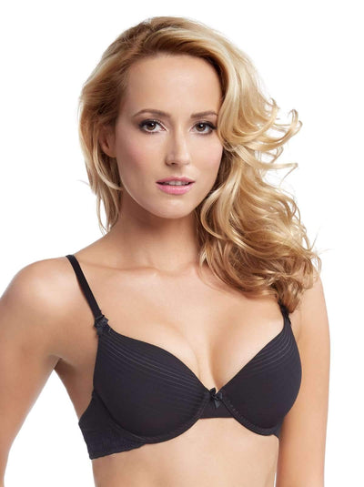 Aubrie Seamless Memory Foam Contour Convertible Bra 2-Pack color-black fawn