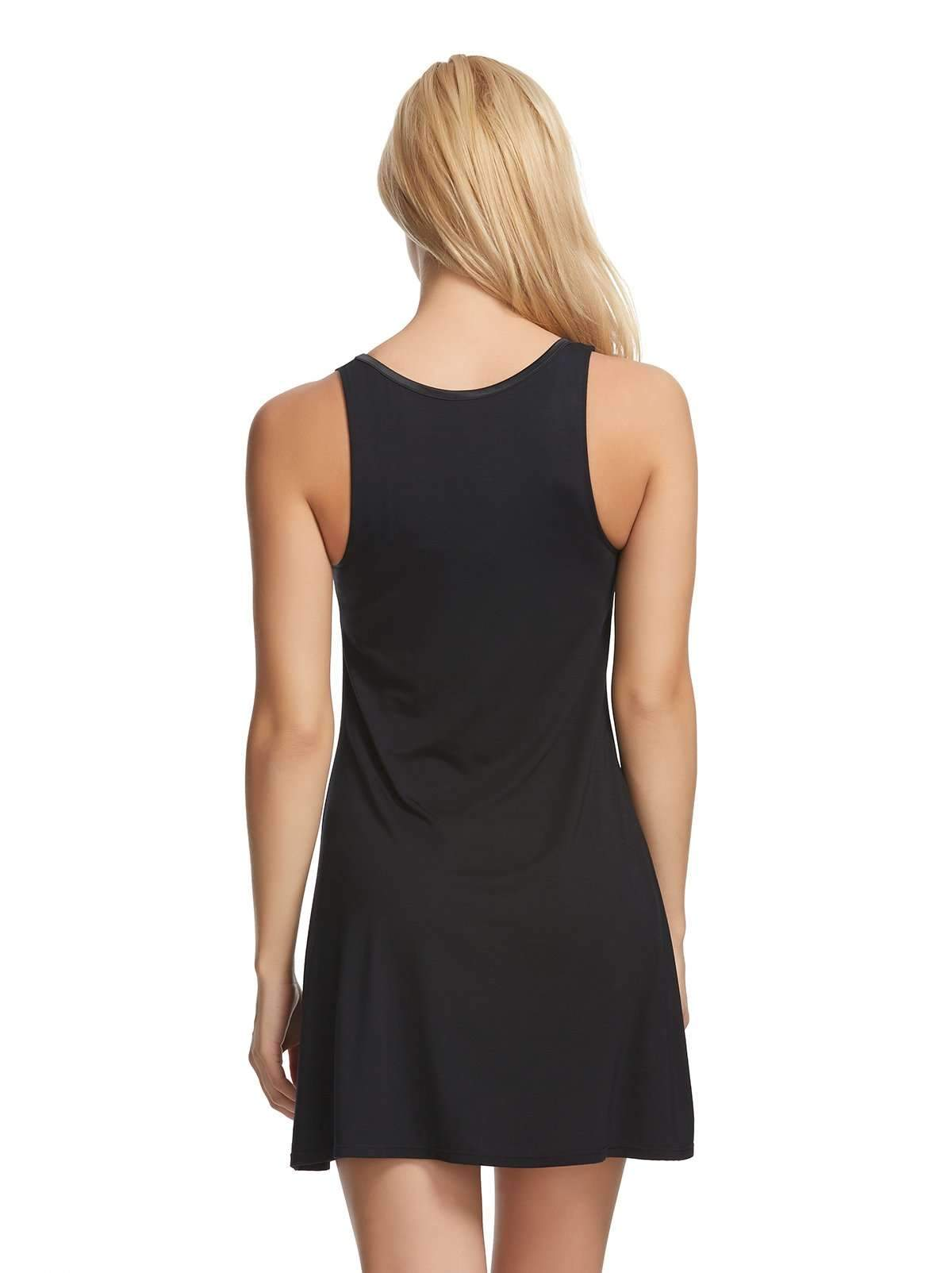 Felina Modal Tank Chemise & Wrap color-black