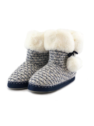 slipper boots color-lurex navy mix