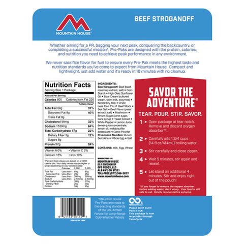 Mountain House Beef Stroganoff Pro-Pak by Mountain House | Camping - goHUNT Shop