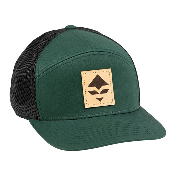goHUNT Dark Green & Black Leather Patch Hat - goHUNT Shop