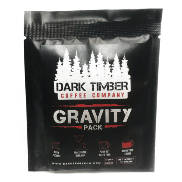Dark Timber Coffee Gravity Packs (10 count) by Dark Timber | Camping - goHUNT Shop
