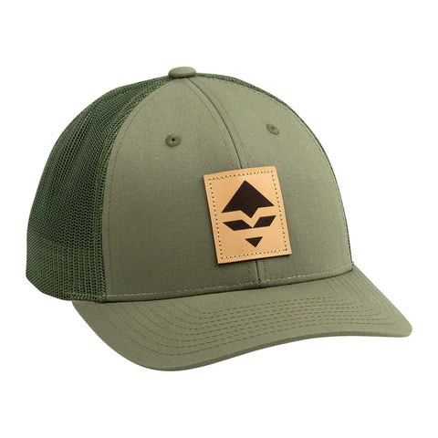goHUNT Olive Leather Patch Hat - goHUNT Shop