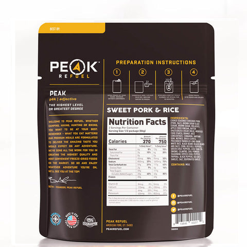 Peak Refuel Sweet Pork & Rice by Peak Refuel | Camping - goHUNT Shop