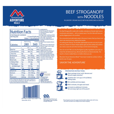Mountain House Beef Stroganoff by Mountain House | Camping - goHUNT Shop